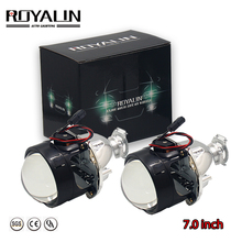 ROYALIN Versione 7.0 Mini Bi-xeno H1 Proiettore Fari Lens per H4 H7 Auto Luce Retrofit Auto Uso Styling h1 Lampada