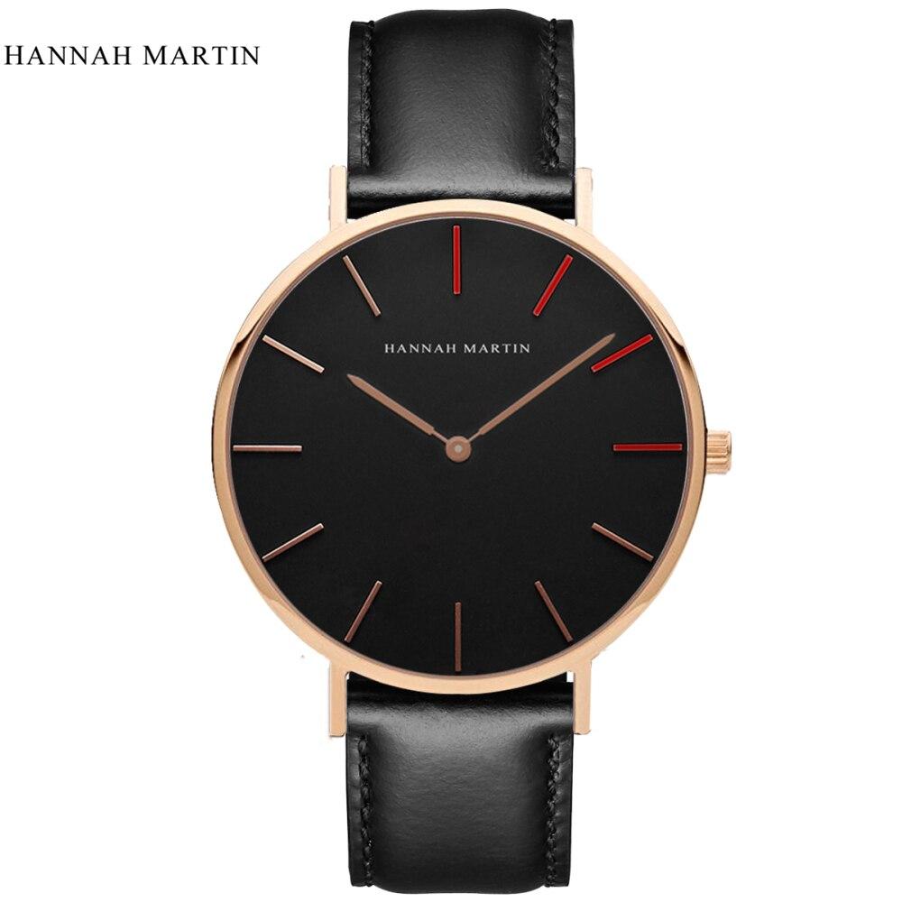 Hannah Martin Uhr Frauen Uhren Top Marke Luxus frauen Uhren Mode Damen Uhr Leder Uhr reloj mujer zegarek damski