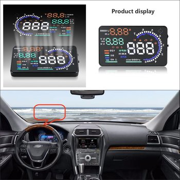 Car Information Projector Screen For Ford Explorer / Escape 2015 2016 - Safe Driving Refkecting Windshield HUD Head Up Display