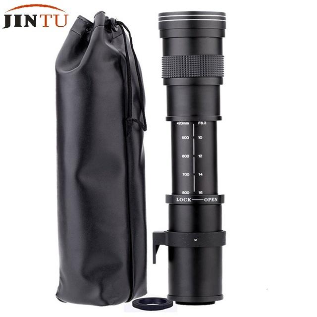 JINTU 420-800mm F/8.3-16 TOP Manual Focus Telephoto Lens for Nikon D3000 D3200 D5000 D5100 D610 D5500 D5300 D3300 D3400 D7200