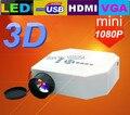 Последней версии поддержка микро-hdmi мини-переносной карманный цифровой из светодиодов проектор для домашнего кинотеатра с HDMI / VGA / / USB / SD