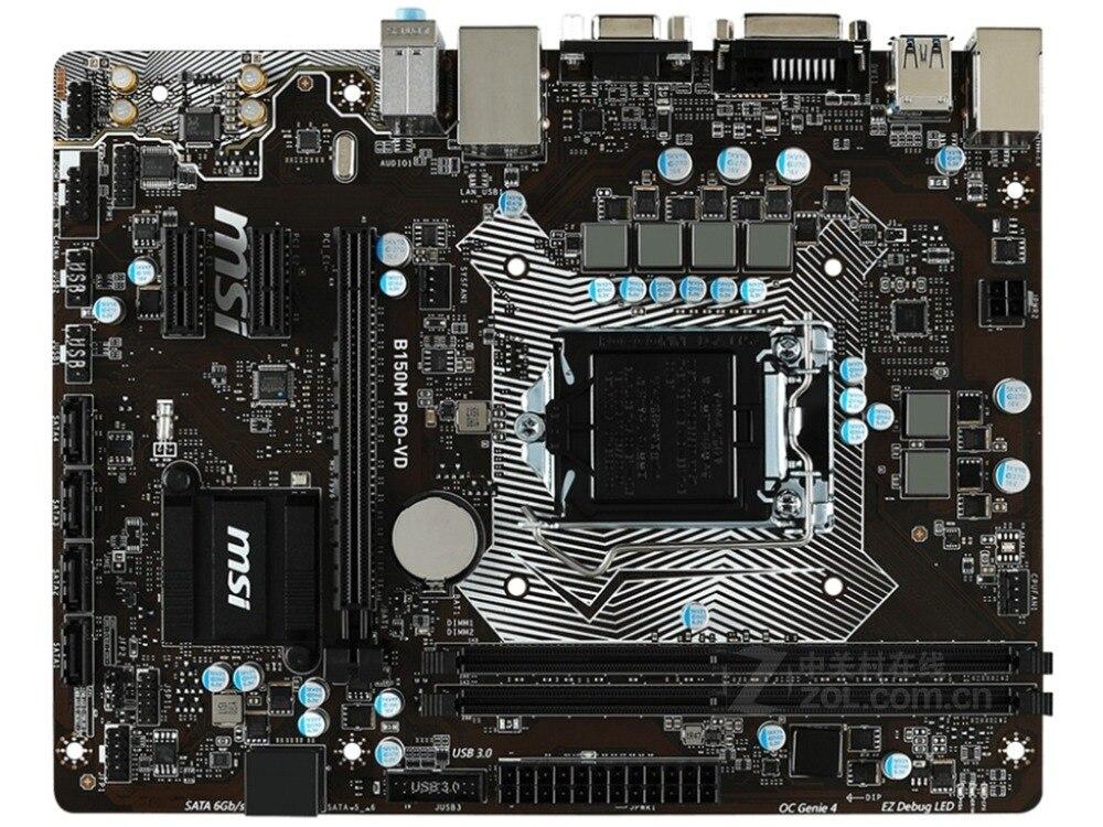 Carte mère d'origine pour MSI B150M PRO-VD LGA 1151 DDR4 USB2.0 USB3.1 32 GB 14NM CPU B150 carte mère de bureau livraison gratuite