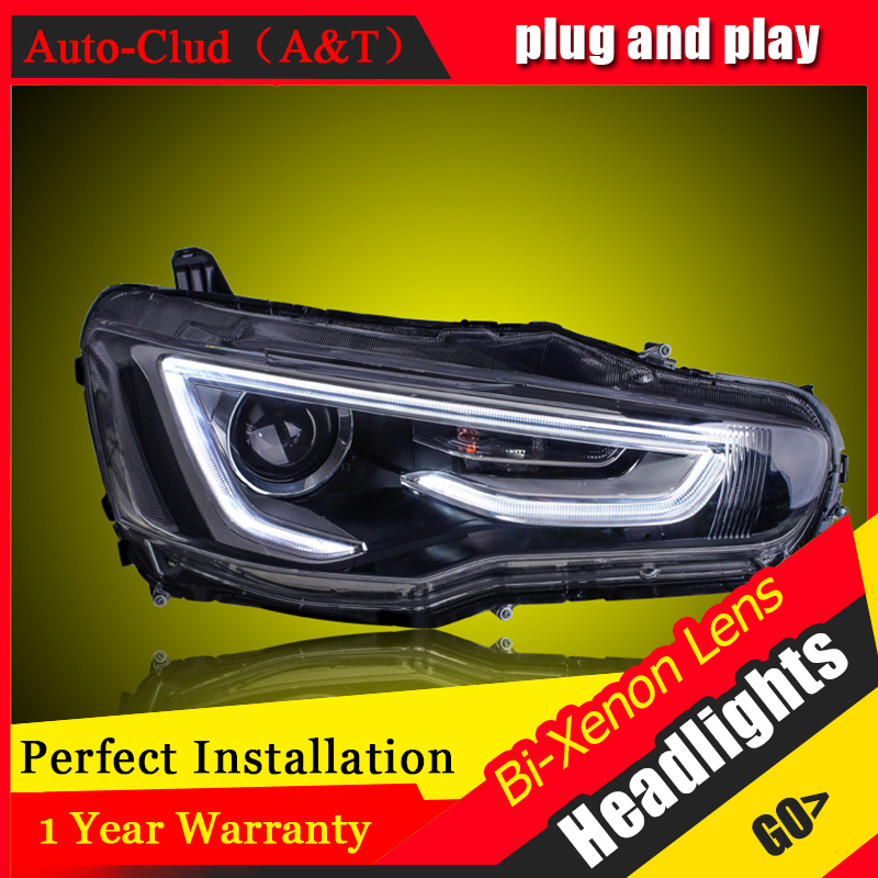 все цены на Car Styling For Mitsubishi Lancer EX headlight For Lancer EX head lamp Angel eye led DRL front light Bi-Xenon Lens xenon HID KIT онлайн