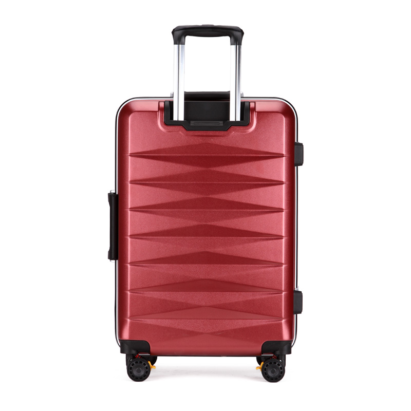 Men women travel trolley case suitcase bags student shipping box aluminum frame universal wheel ABS PC luggage bag 20 24 inch