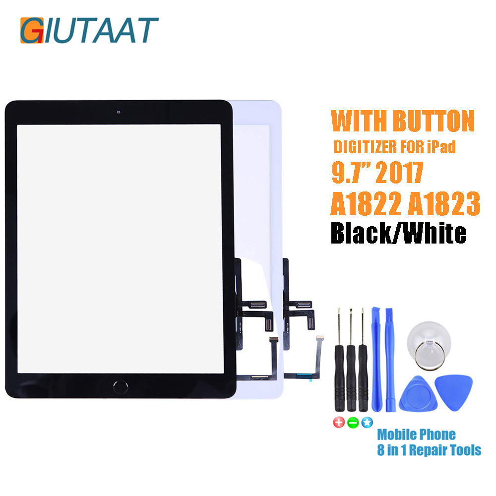 Front Glass Replacement with Home ... Touch Screen Digitizer for 2017 iPad 9.7