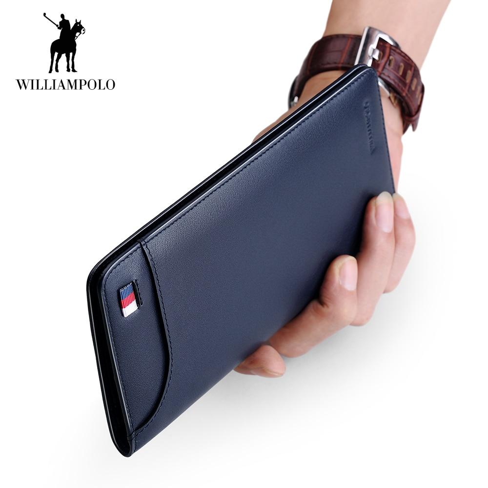 WilliamPOLO Ultrathin Slim Long Clutch Bag Credit Card Holder Men Wallet Genuine Leather Handbag Multi Card Case Cash Purse 147 владимиров ю с метафизика век xxi альманах выпуск 2 сборник статей