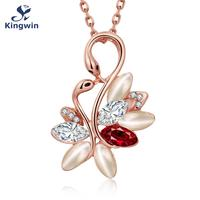 N913 Italy Designer Fashion Jewelry Brand Pendant Necklace For Women Couple Swan Love Heart Design For