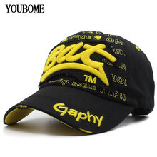 6772668f515e5 Youbome moda gorra de béisbol del SnapBack sombreros para hombres mujeres  marca hombre algodón Bordado gorras