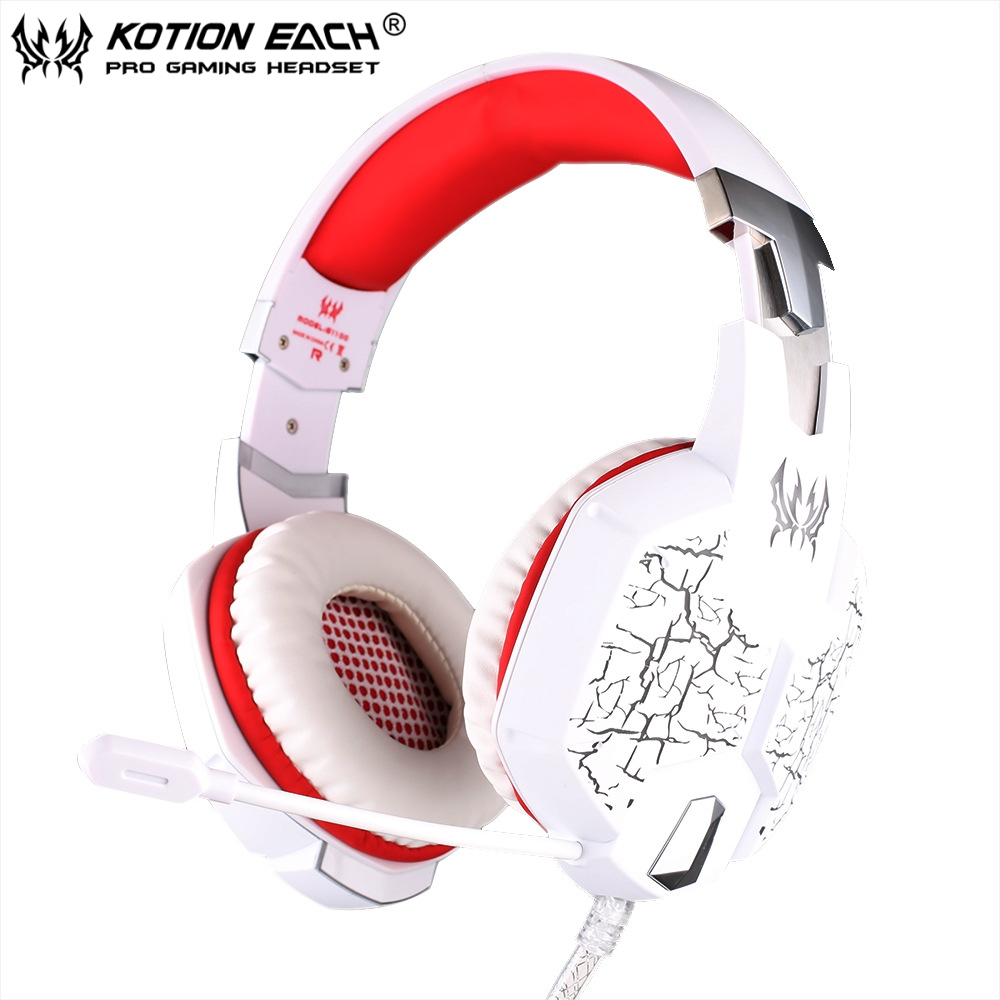EACH G1100 7.1 Heavy Bass Surround Sound Stere Gaming Headset Headband 3.5mm PC Notebook Pro Game headphone with Mic LED Light each g1100 shake e sports gaming mic led light headset headphone casque with 7 1 heavy bass surround sound for pc gamer