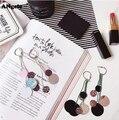 Nuevo Diseño de Pendientes de Aro Redondo Multicolor Lentejuelas Tassel Pendientes Para Las Mujeres Pendientes Largos Pendientes Brincos Joyería Feminino