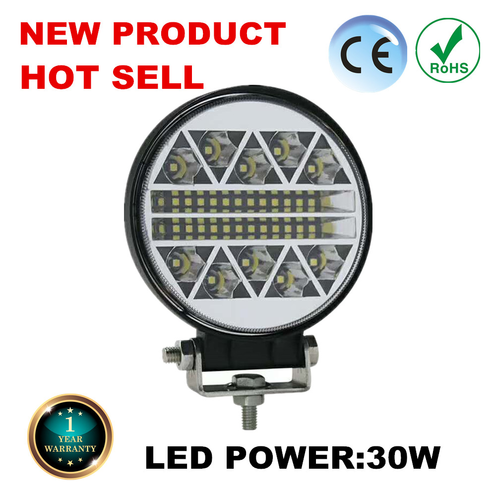 Nouveau 30W 5CM LED lampe de travail voiture 4x4 ATV LED lumières de travail 12V pouces camion tracteur LED lumière de travail projecteurs pour Jeep