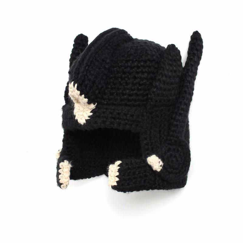 Crochet Transformer Optimus Prime Hat Handmade Knitted Face Mask