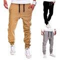Otoño Invierno Nuevo Diseño De Moda de Los Hombres Masculinos Buena Casual Sólidos Pantalones de Chándal Basculador Hombre Pocket Pantalones de Cintura Elástica