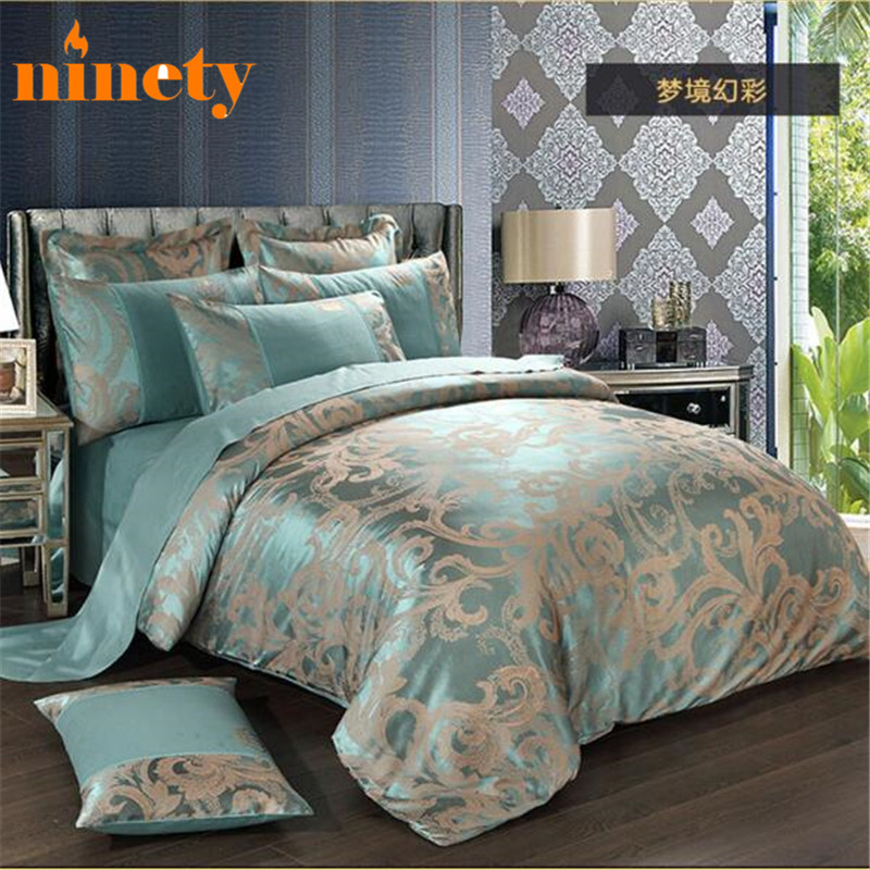 Silk Bedding Set Cotton Comforter Duvet Covers Sets 4pcs