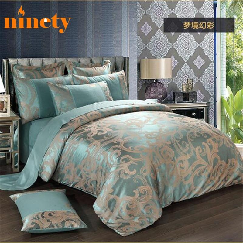 Silk Bedding Set Cotton Comforter Duvet Covers Sets 4pcs