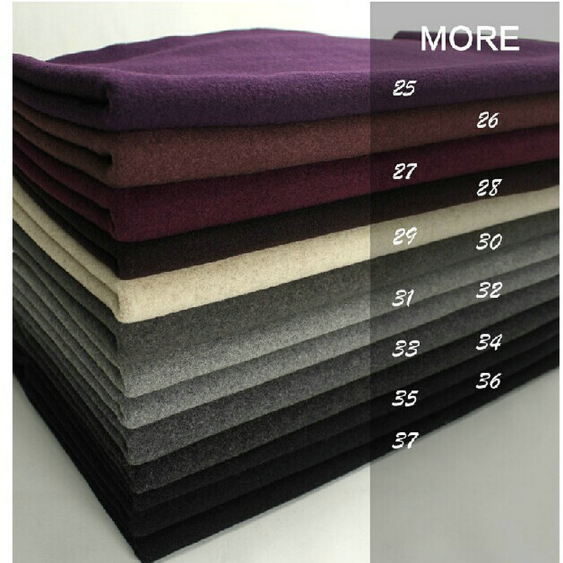 25-37# Multicolor Free Shipping Cashmere And Woolens Cut Velvet Wool Fabric Coat Winter Garment
