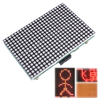 LED Lattice Module 16x24 Dot Matrix LED Module Subtitle Text Display HT1632C 3 3V 5V