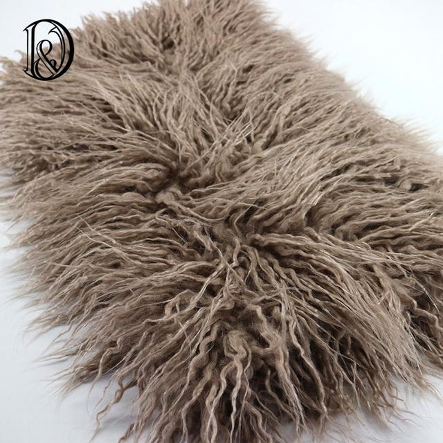 (150*100 cm) Faux Fur PIEL MONGOL Manta Embutidora de la Cesta accesorios de Fotografía Recién Nacido Apoyos de La Fotografía