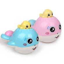1 Piece Cute Bath Toys For Baby Candy Color Plastic Whale Room Bed Crib Rattle Baby Toys Funny Toy(China)