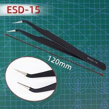 Metall anti-statische ESD Anti-Statische Edelstahl Pinzette Set Wartung Reparatur Tool Kit Anti Statische Modell, Der hand Werkzeuge