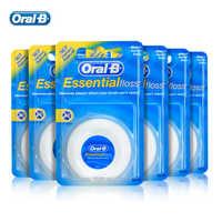 Oral B Essential Floss Comfortable Waxed Dental Floss Gum Care Interdental Clean Flat Thread Flosser 50m/pc