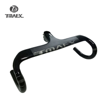 Tmaex- Full Carbon Bicycle Handlebar Road Bike Carbon Handlebar And Stem Integrated With Computer Stent Hole 28.6mm недорого