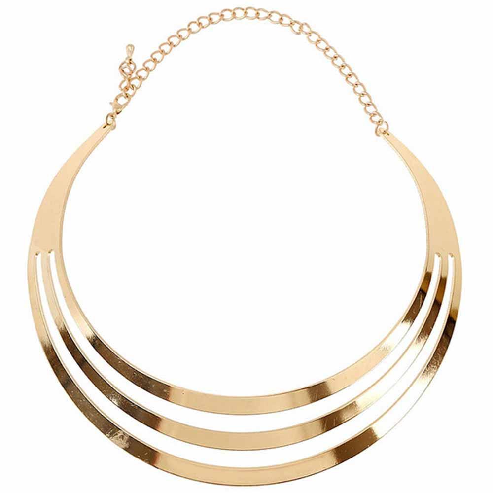 2016 Charm Choker Necklaces Women Gorgeous Metal Multi Layer Statement Bib Collar Necklace Fashion Jewelry Accessories Hot Sale