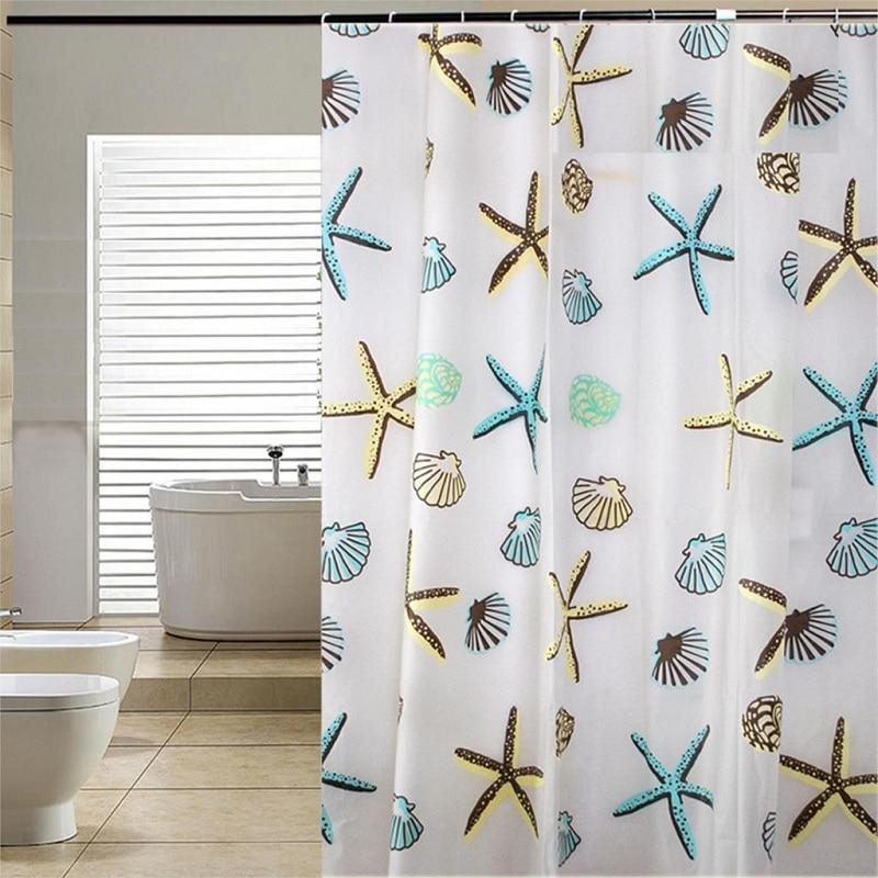 YL18 Classic Sea Shell PEVA Bathroom Waterproof Mildew
