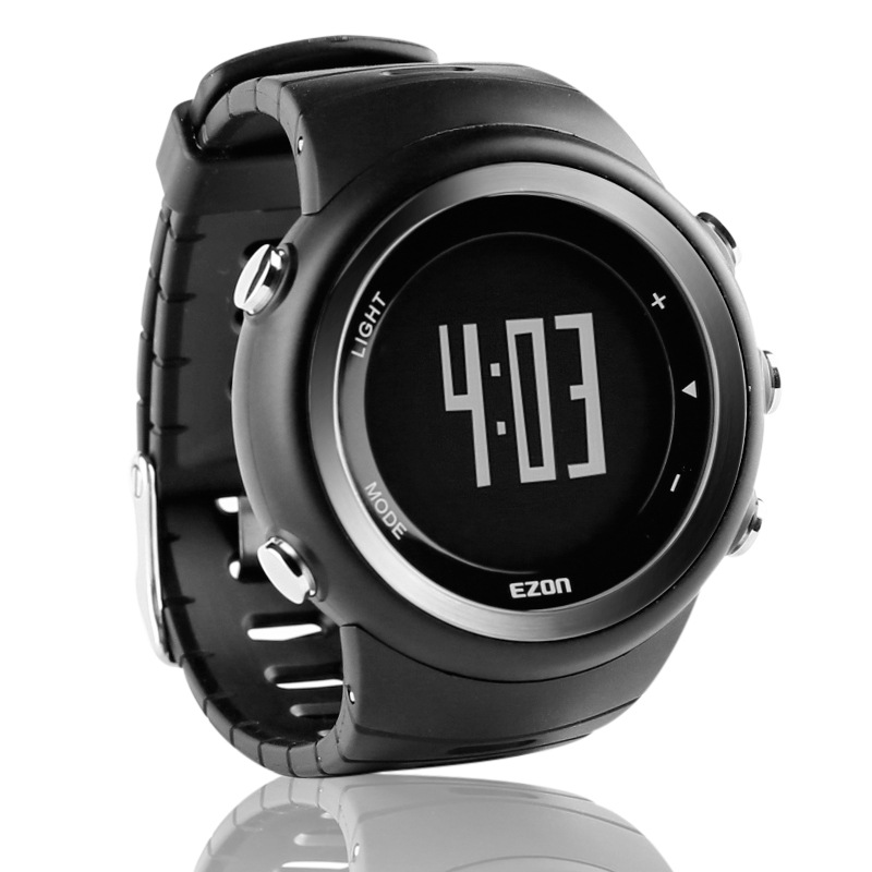 Free shipping EZON outdoor running calorie pedometer sports watch waterproof electronic T023 Digital Wristwatches for Men