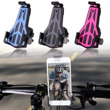 Cycling Anti-Slip Bicycle MTB Mountain Road Bike Phone Holder Handlebar Clip Stand Mount Bracket Racks Bicycle Accessories