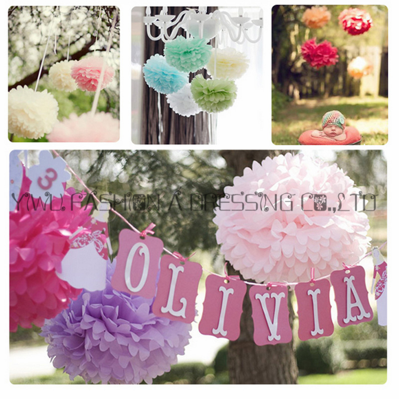 Us 19 89 5 Off 29 Colors Available Giant Paper Flowers White Wedding 20inch 50cm 8piece Lot Diy Tissue Paper Pom Pom Balls Party Decoration In