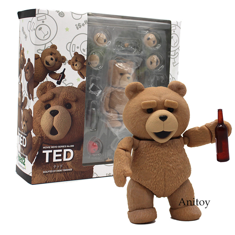 Anime Movie Revo Series NO.006 TED2 Teddy Bear PVC Action Figure Collectible Model 9cm KT4192 image