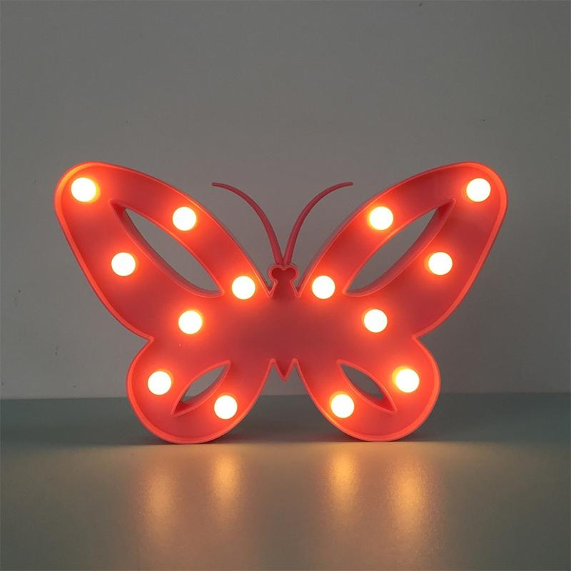 LumiParty 2017 New 3D Design Beautiful Butterfly LED Night Light Decorative Table Lamp For Bedroom Festival Party Lamp
