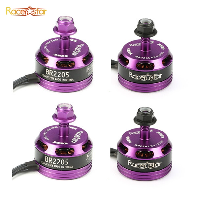Original 4PCS 4x Racerstar Racing Edition 2205 BR2205 2300KV 2-4S Brushless Motor CW CCW Purple For QAV250 ZMR250 260 Frame 2016 new arrival racerstar racing edition 2216 br2216 1400kv 2 4s brushless motor for 350 380 400 450 frame kit