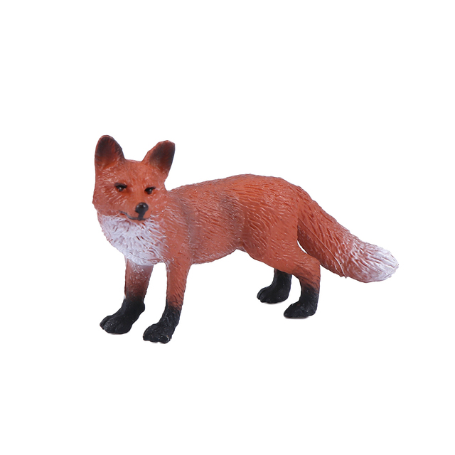 Mini Simulation Red Fox Models Home Garden Statues Ornaments Figurine Decoration For Forest Style Home Decor Accessories 6