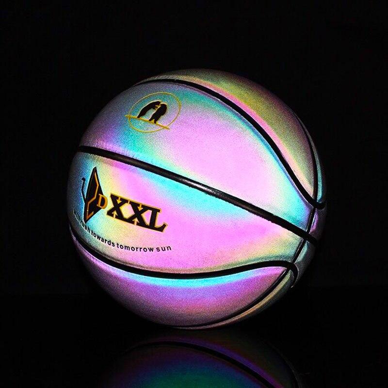 Basket arc-en-ciel pour hommes lumineux coloré intérieur/extérieur jeu balle ZJ55