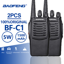 2pcs Baofeng BF-C1 Portable Radio Walkie Talkie UHF Walk Talk 5W Amateur Bf-888s Upgrated CB Ham Talki Walki