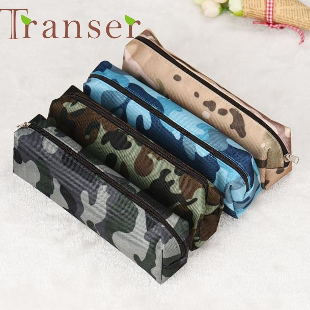 Elegance 1pc 4 Colors Camouflage Pen Bag Pencil Case Pouch Stationery Cosmetic Cases , makeup bag DEC7 Dropshipping
