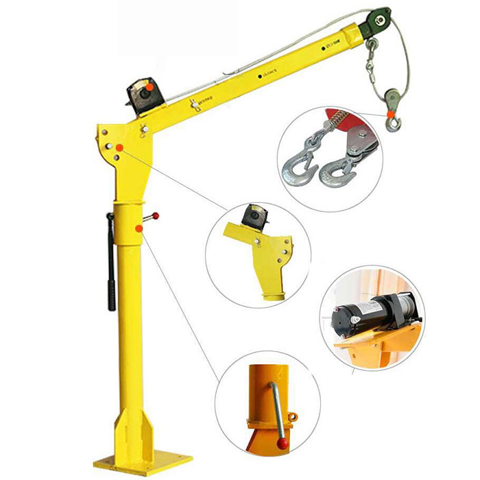Electric Hoist 6000lbs Electro Crane 12v 24v Copper Motor