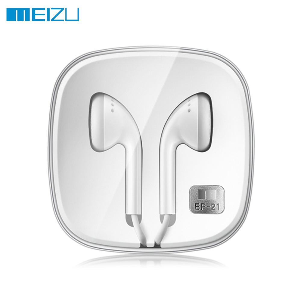 Original MEIZU EP21 Earphone Deep Bass Stereo Sound With Mic In- Ear Earphones Support Volume control for Mobile Phones daono in ear earphone headset in line control clarity stereo sound with mic earpieces for iphone mobile phone mp3 mp4