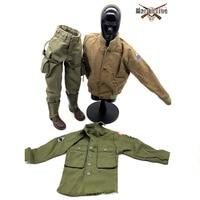 1:6 Scale Soldier Clothing Action Figure Accessories DIY DML WWII U.S.Military Shirt Jacket Coat Pants Ranger combat boots Suit