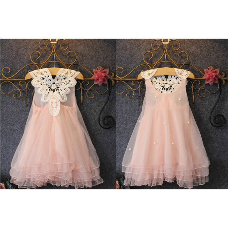 Fashion kids clothes Flower Girl Spring Summer Princess Dress Kid Baby FormalParty Wedding Lace Tulle Tutu Dresses 13