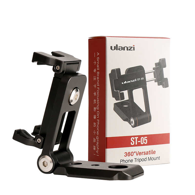 Ulanzi ST-05 Faltbare Stativ Mount Adapter Telefon Clipper Halter Vertikale 360 Stativ Quick Release Platte für Stativ Mic