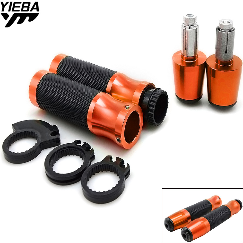 22mm Motorcycle Pit Bike Hand Grips Handle Bar Ends Motocross For KTM EXC 250 300 EXC 450SXF 450SMR 530XC-W/XCR-W/EXC-R/EXC Z900