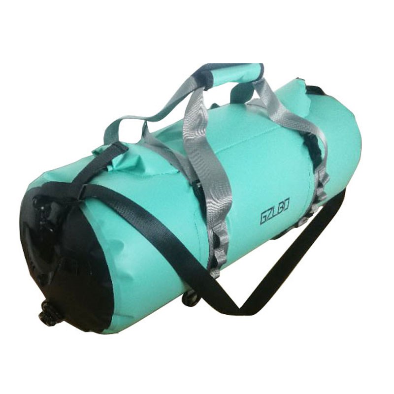 GZLBO 50L Waterproof Circle Travel Bag Backpack PVC Mint Green Ultralight Bicycle Backpacks Folding Roll Top Travel Duffel Bag mint green casual sleeveless hooded top