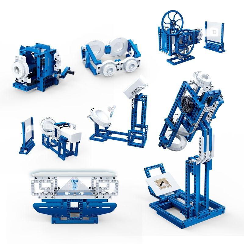BanBao 14 In 1 Optic Light Exploration Technic Machine Experiment Brick Educational Model Building Blocks Children Kids Toy 6922