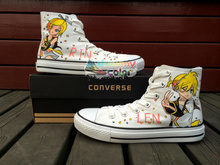 Anime Women Men Converse All Star Vocaloid Kagamine Rin Len Design Custom Hand Painted Shoes Woman Man Skateboarding Sneakers
