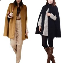 Women's Outwear Jacket Cape Overcoat Cloak Parkas Trench Coat Autumn Winter Hot