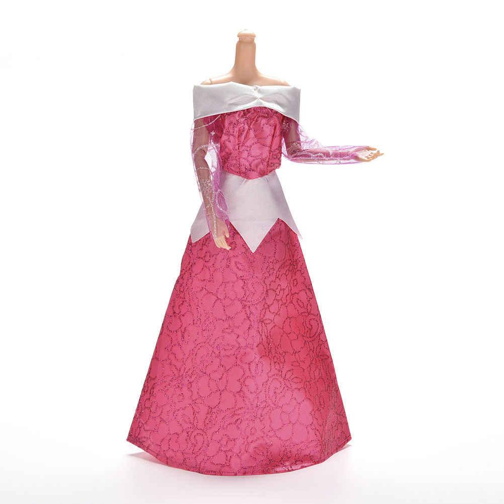 TOYZHIJIA peri masalı güzellik prenses düğün elbisesi elbisesi kopya uyku kıyafet barbie bebek Aurora elbise Kurhn oyuncak tuvalet