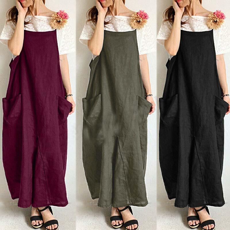 Women Strappy Suspender Shirt Dress Bib Cargo Oversize Summer Sundress